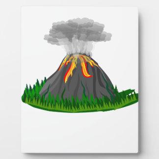 Vulkaneruption und -feuer fotoplatte