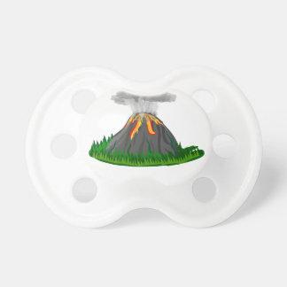 Vulkaneruption und -feuer schnuller