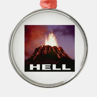 Vulkanhölle Silbernes Ornament