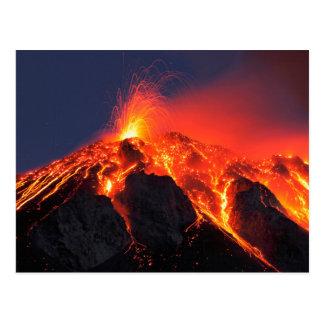 Vulkanische Eruption Postkarte