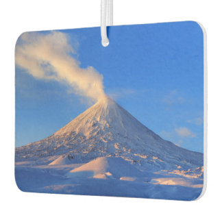 Vulkanische Landschaft des schönen Winters Lufterfrischer