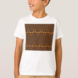 Vulkanische Ozean-gemustertes Kindert-shirt T-Shirt