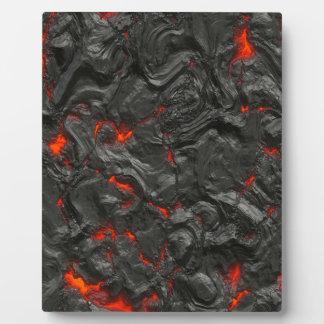vulkanischer Lavahintergrundeffekt Fotoplatte