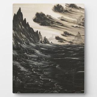 Vulkanisches Ufer Fotoplatte