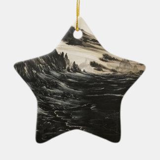 Vulkanisches Ufer Keramik Stern-Ornament