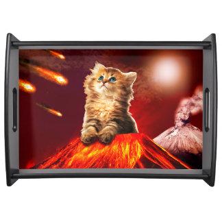 Vulkankatze, vulcan Katze, Tablett