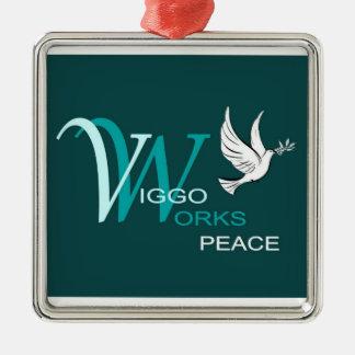 VW-Frieden Quadratisches Silberfarbenes Ornament