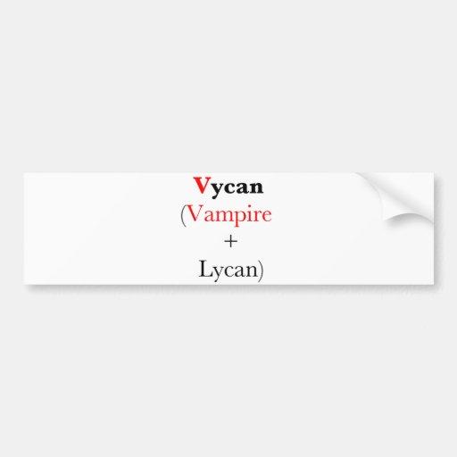 vycan lycan Vampir Auto Aufkleber