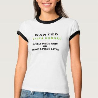 W A N T E D, L I V E R D O N O R S, GEBEN EINE T-Shirt