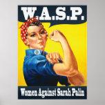 W.A.S.P. - Frauen gegen Sarah Palin Plakat