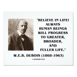 W.E.B. Du Bois Believe im Leben-immer Fortschritt 10,8 X 14 Cm Einladungskarte