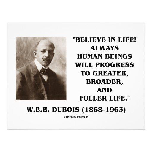 W.E.B. Du Bois Believe im Leben-immer Fortschritt Ankündigung