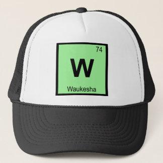 W - Waukesha Wisconsin Chemie-Periodensystem Truckerkappe