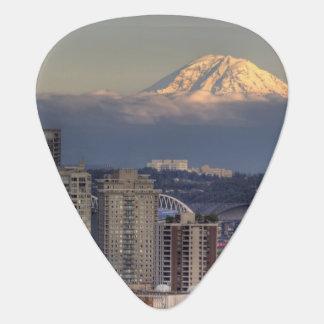 WA, Seattle, der Mount Rainier von Kerry-Park Plektron