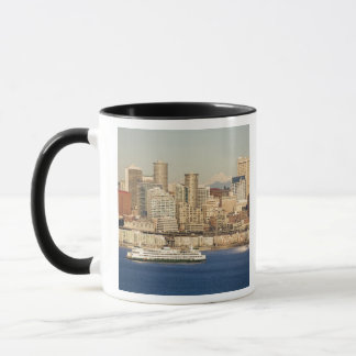 WA, Skyline Seattles, Seattle und Elliotts bellen Tasse