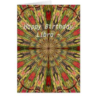 Waage-Mandala-Geburtstags-Karte Karte