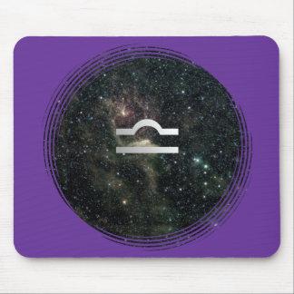 Waage-Skala-Tierkreis-Stern-Zeichen-Universum Mousepad