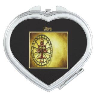 Waage-Tierkreis-Astrologieentwurf Horoskop Taschenspiegel