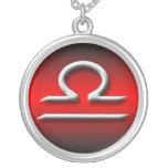 Waage-Tierkreis-rote Steigung ~ Halskette