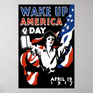 Wachen Sie Amerika-Tag - Ersten Weltkrieg auf Poster