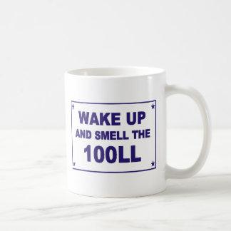 Wachen Sie auf und riechen Sie das 100LL Kaffeetasse