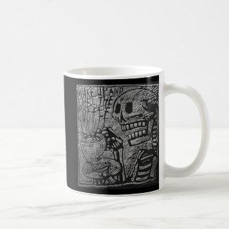 Wachen Sie auf und riechen Sie den Kaffee Kaffeetasse