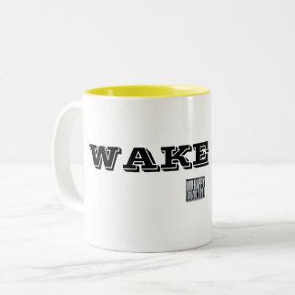 Wachen Sie auf! Zweifarbige Tasse