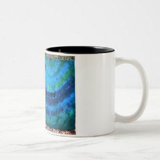 Wachen Sie das frische Gefühl auf Zweifarbige Tasse