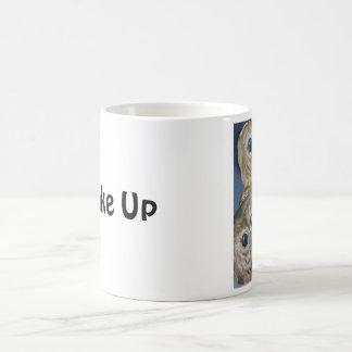 Wachen Sie Eulen auf Kaffeetasse