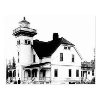 Wachposten-Insel-Leuchtturm 2 Postkarte