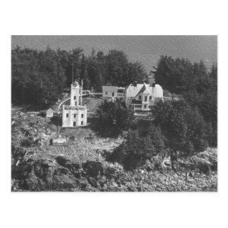 Wachposten-Insel-Leuchtturm Postkarte