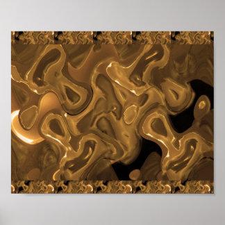 WACHS goldenes abstraktes: Poster