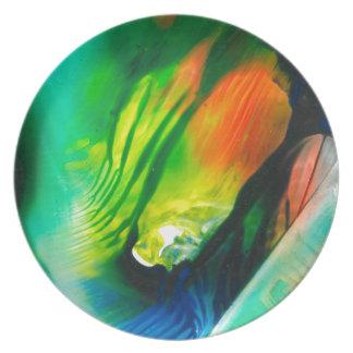 Wachs-Kunst 0001 Melaminteller