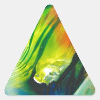 Wachs-Kunst am 1. Februar Dreieckiger Aufkleber