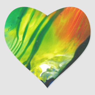 Wachs-Kunst am 1. Februar Herz-Aufkleber