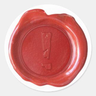Wachs-Siegel-Monogramm - Rot - Boulder - Sticker