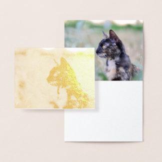 Wachsame Miezekatze-Katze - Folien-Karten-Entwurf Folienkarte