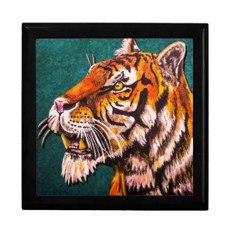Wachsamer Tiger aquamarin Erinnerungskiste
