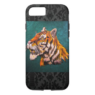 Wachsamer Tiger aquamarin iPhone 8/7 Hülle