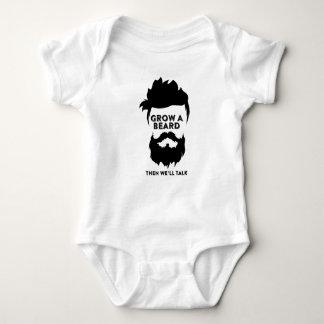Wachsen Sie einen Bart, dann, das wir sprechen Baby Strampler