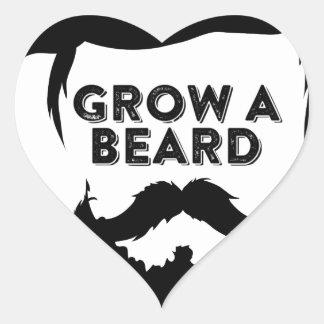 Wachsen Sie einen Bart, dann, das wir sprechen Herz-Aufkleber