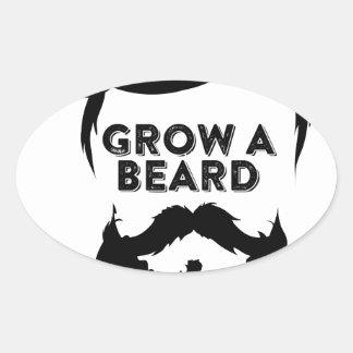 Wachsen Sie einen Bart, dann, das wir sprechen Ovaler Aufkleber