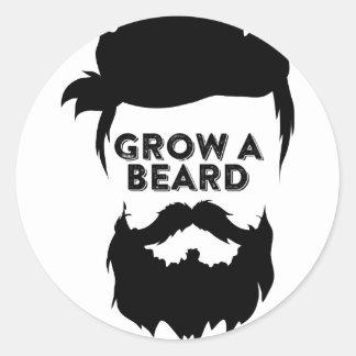 Wachsen Sie einen Bart, dann, das wir sprechen Runder Aufkleber