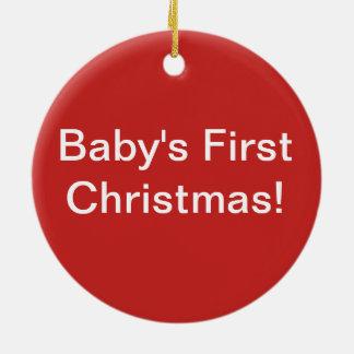 Wachsen Sie erste Verzierung des Liebe-Babys Keramik Ornament