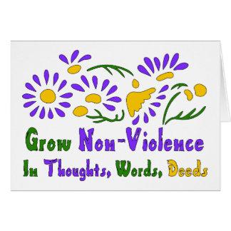 Wachsen Sie Gewaltlosigkeit Karte