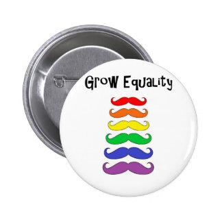 Wachsen Sie Gleichheit Runder Button 5,7 Cm