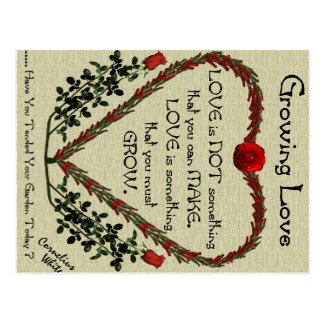 Wachsende Liebe Postkarte