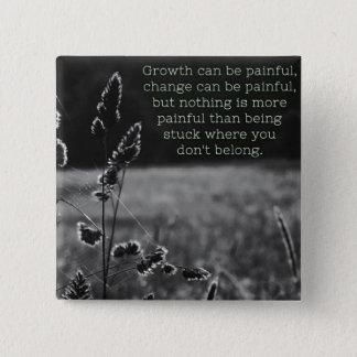 Wachstums-Button Quadratischer Button 5,1 Cm