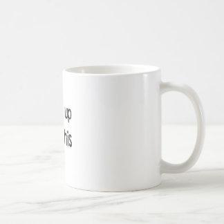 wachte auf kaffeetasse