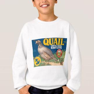 Wachtel-Birnen-Frucht-Kisten-Aufkleber Sweatshirt